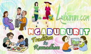 Illustration of Ngabuburit, Indonesian Tradition in Ramadan