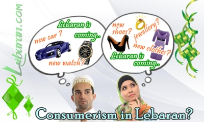 Illustration Consumerism in Lebaran?